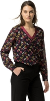 Tommy Hilfiger Painted Floral V-Neck Blouse