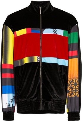 Koché Zip-Front Panelled Jacket