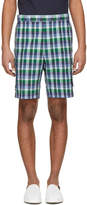 Thom Browne Blue Madras Gusseted Patch Pocket Shorts