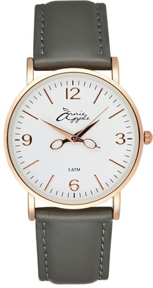 Bermuda Watch Company Annie Apple Alore Rose Gold/White/Grey Leather Hairdresser Scissor Hands Watch
