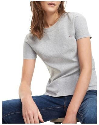 Tommy Hilfiger Heritage Crew Neck T-Shirt Light Grey Heather