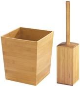 InterDesign Formbu Square Bowl Brush and Waste Can Set (3 PC)