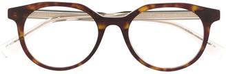 Fendi Eyewear Round Frame Tortoiseshell Glasses