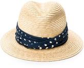 Maison Michel Bobbie straw trilby hat