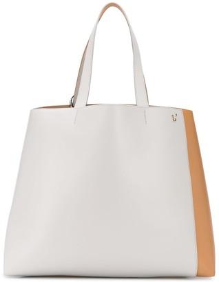 L'Autre Chose Two-Tone Internal Pocket Tote Bag