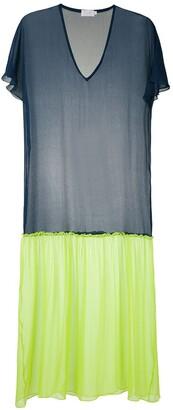 BRIGITTE Duo silk maxi dress