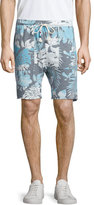 Sol Angeles Sahara Floral-Print Drawstring Shorts, Blue