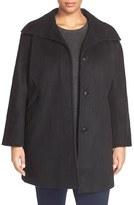 Ellen Tracy Plus Size Women's Wool Blend A-Line Coat