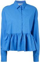 MSGM flared hem blouse - women - Cotton/Polyurethane/Spandex/Elastane - 44
