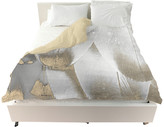 "Oliver Gal The Artist Co. Royal Feathers"" Duvet Cover, King"