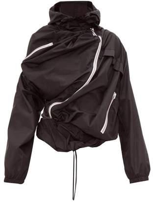 Y/Project Upside Down Technical Rain Jacket - Mens - Black