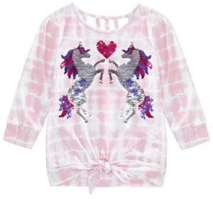 Beautees Big Girls Tie-Dye Unicorn Top