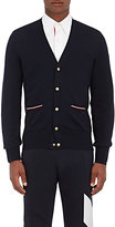 Moncler Gamme Bleu Men's Virgin Wool Cardigan-NAVY