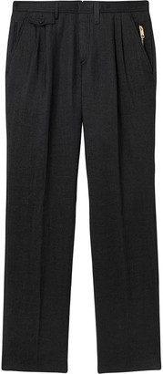 Burberry Zip-Detailed Trousers
