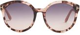 Tom Ford Philippa round-frame acetate sunglasses