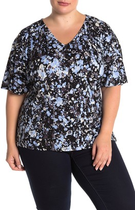 Leota Allie V-Neck Dolman Sleeve Top (Plus Size)