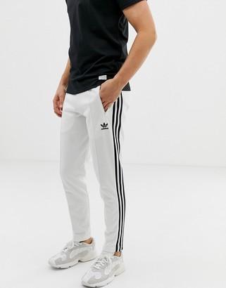 adidas Beckenbauer Joggers 3 Stripes White