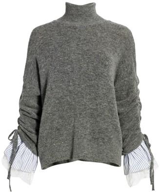 Cinq à Sept Atlas Turtleneck Flared Sweater