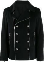 Balmain button detailed zipped jacket