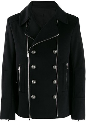 Balmain Button Detailed Zipped Jacket