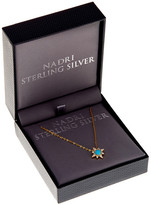 Nadri 18K Gold Plated Sterling Silver CZ Turquoise Star Pendant Necklace