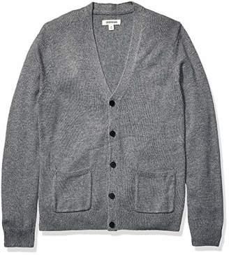 Goodthreads Amazon Brand Men's Supersoft Marled Cardigan Sweater