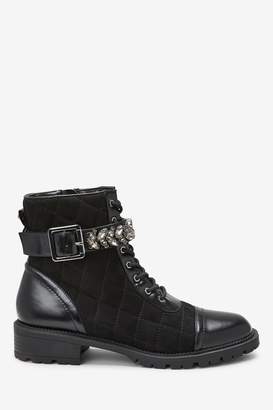 Next Womens Forever Comfort Buckle Detail Boots - Black