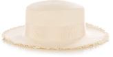 Federica Moretti Panama frayed-edge straw hat