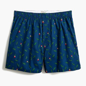 J.Crew Christmas pickle woven boxers
