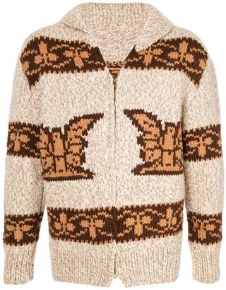 Fake Alpha Vintage Intarsia Knit Cardigan