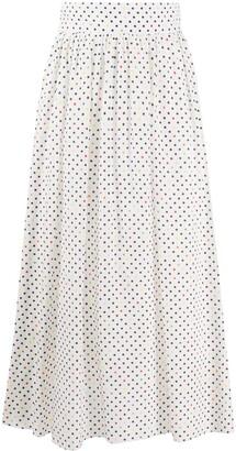 Christopher Kane Polka Dot Print Pleated Skirt