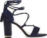 Dune Margo suede block heel sandals