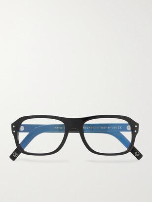 Kingsman Cutler and Gross Eggsy's Square-Frame Acetate Optical Glasses - Men - Black