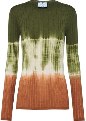 Prada Colour-Block Ribbed Jumper