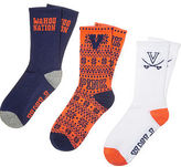 PINK University Of Virginia 3-Pack Crew Socks