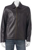 Chaps Men's Lambskin Leather Motorcycle Jacket