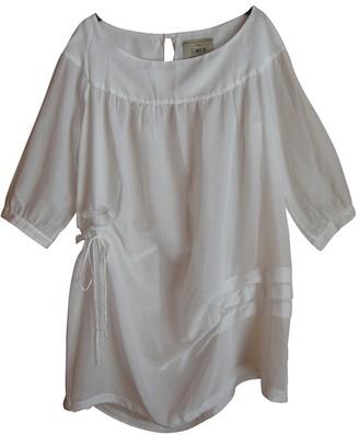 Aniye By White Cotton Dress for Women