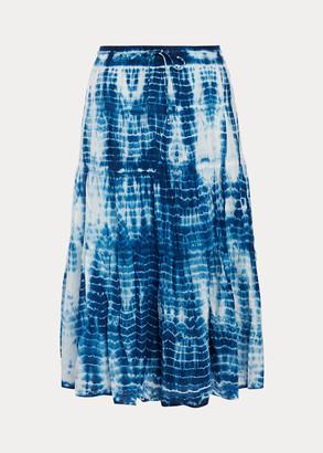 Ralph Lauren Tie-Dye Tiered Peasant Skirt
