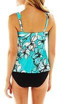JCPenney Trimshaper® Floral Print V-Neck Tankini Swim Top