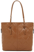Tignanello In Knots Argyle Embossed Leather Tote