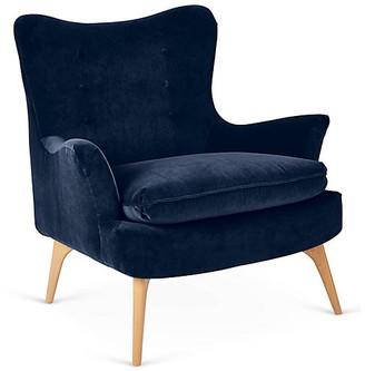 Kim Salmela Sonja Accent Chair - Indigo Velvet