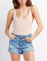 Charlotte Russe Scoop Neck Backless Bodysuit