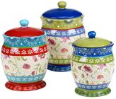 Certified International Anabelle 3-pc. Ceramic Canister Set