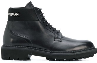 Emporio Armani Lace-Up Boots