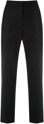 Egrey Pockets Cropped Trousers