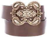 Just Cavalli Embellished- Buckle Leather Belt