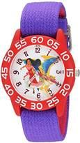 Disney Girl's 'Elena of Avalor' Quartz Plastic and Nylon Casual Watch, Color:Purple (Model: WDS000274)