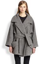 Carven Oversized Belted Knit Coat