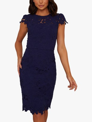 Chi Chi London Oceana Lace Dress, Blue