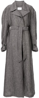 Strateas Carlucci Meta textured trench coat